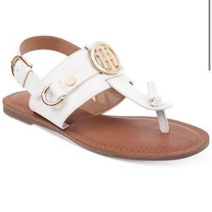 Tommy Hilfiger white Luvee flat sandals